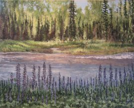 lupine by the river